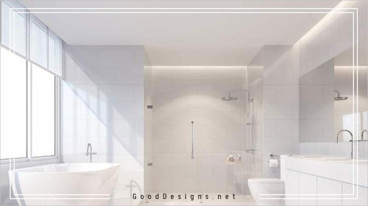 Elegant White color for bathrooms