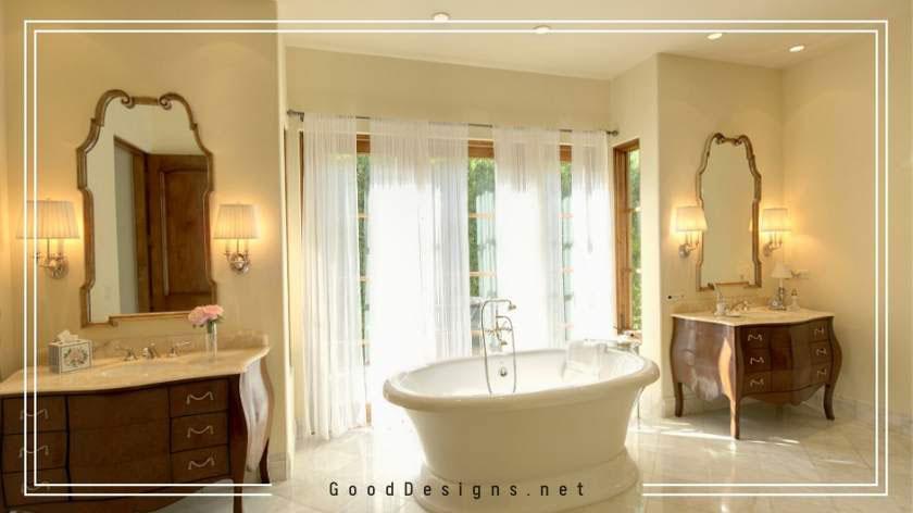 Elegant cream color paint for bathrooms