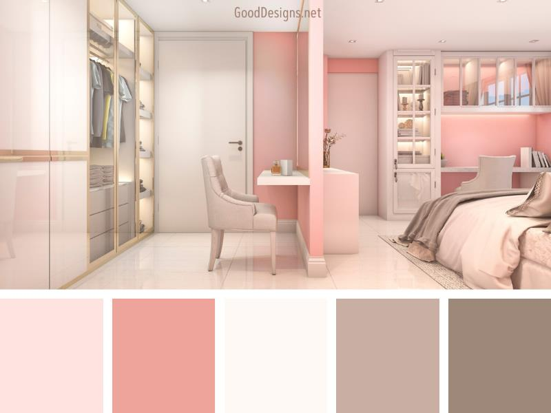 Pink bedroom color palette