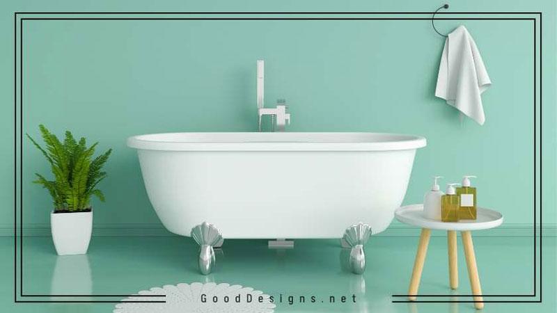 Jade green bathroom color